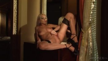 The blonde loves to lick pussy and she sucks his dick