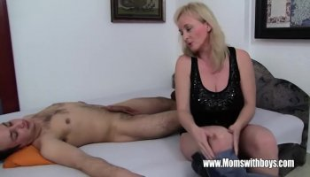 Stepmom demands anal lazy son and gets it